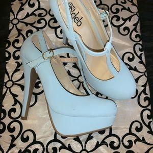 Light blue high heels 💙